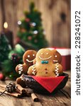 christmas food. gingerbread man ... | Shutterstock . vector #228241072