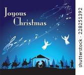 joyous christmas. vector...   Shutterstock .eps vector #228251392