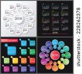 calendar 2015 vector design... | Shutterstock .eps vector #228262378