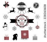 collection of christmas symbols | Shutterstock .eps vector #228263608