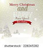 beautiful christmas background... | Shutterstock .eps vector #228265282