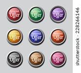 seasonal offer colorful vector...   Shutterstock .eps vector #228266146