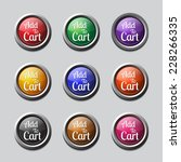 add to cart colorful vector... | Shutterstock .eps vector #228266335