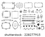 vector floral decor set of hand ... | Shutterstock .eps vector #228277915