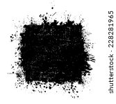 square frame of abstract ink... | Shutterstock .eps vector #228281965