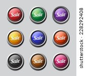 sale colorful vector icon design | Shutterstock .eps vector #228292408
