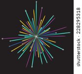 multicolored vector fireworks... | Shutterstock .eps vector #228295318