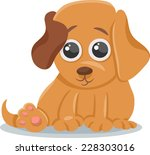 cartoon illustration of cute... | Shutterstock . vector #228303016