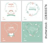 Set Of Square Greeting Cards...