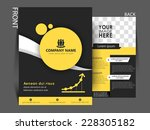 vector professional flyer ... | Shutterstock .eps vector #228305182