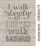 vector lettering on wood... | Shutterstock .eps vector #228306175
