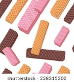 different flavored wafers... | Shutterstock .eps vector #228315202