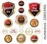 premium  quality retro vintage... | Shutterstock .eps vector #228315502