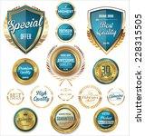 premium  quality retro vintage... | Shutterstock .eps vector #228315505