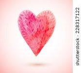 vector watercolor heart ... | Shutterstock .eps vector #228317122