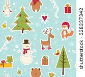 christmas seamless with festive ... | Shutterstock .eps vector #228337342