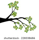 decorative spring branch tree... | Shutterstock .eps vector #228338686