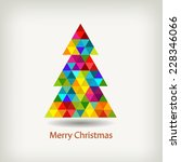 christmas tree in rainbow colors | Shutterstock .eps vector #228346066