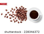 vector coffee cup and coffee... | Shutterstock .eps vector #228346372