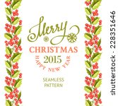 Merry Christmas Card With Line...
