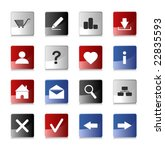 website and internet icons ... | Shutterstock .eps vector #22835593