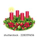 Advent Wreath With One Burning...