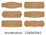 set of 6 shapes wooden sign... | Shutterstock .eps vector #228365362