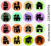 vector house  icons  | Shutterstock .eps vector #228365956