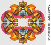 mandala. decorative lace... | Shutterstock . vector #228368992