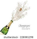 vector close up of champagne... | Shutterstock .eps vector #228381298