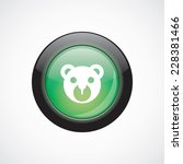 bear toy glass sign icon green...