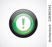 warning glass sign icon green...