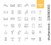 furniture and home decor icons. ... | Shutterstock .eps vector #228383302