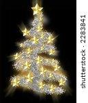 xmas tree in gold | Shutterstock . vector #2283841