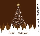 christmas tree from snowflakes... | Shutterstock .eps vector #228387715