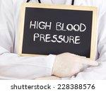 doctor shows information  high... | Shutterstock . vector #228388576
