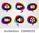 media and digital technology on ... | Shutterstock .eps vector #228400252