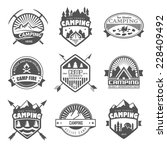 set of retro badges and label... | Shutterstock . vector #228409492