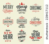 christmas typographic... | Shutterstock .eps vector #228417112