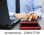 Closeup Of Businessman Working...