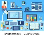 flat design vector illustration ... | Shutterstock .eps vector #228419908