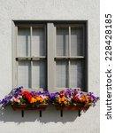 Gray Stucco Window With...
