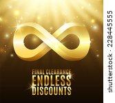 final clearance endless... | Shutterstock . vector #228445555