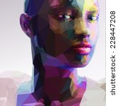 low poly abstract portrait of a ... | Shutterstock .eps vector #228447208