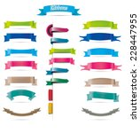 collection of colorful ribbons... | Shutterstock .eps vector #228447955