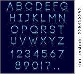 blue and chrome alphabet letter ... | Shutterstock . vector #228453292