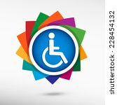 disabled handicap icon.  | Shutterstock .eps vector #228454132