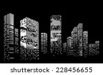vector design building and city ... | Shutterstock .eps vector #228456655