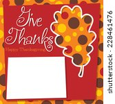 acorn leaf thanksgiving card in ... | Shutterstock .eps vector #228461476