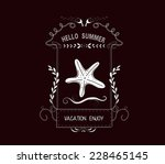 hello summer vintage frames and ... | Shutterstock .eps vector #228465145